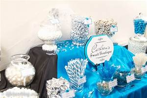 Blue, Black & White Wedding Candy Buffet – Charming Printables