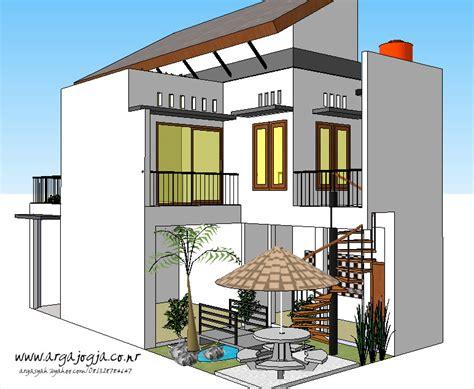 desain taman belakang kecil rumah  lantai lebar  meter