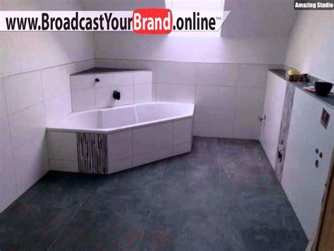 Badezimmer Fliesen Grau Weiß Youtube