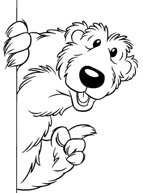 bear   big blue house coloring pages  kids