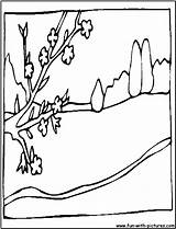 Coloring Landscape Pages Spring Colouring Fun Popular Printable Adults Coloringhome sketch template