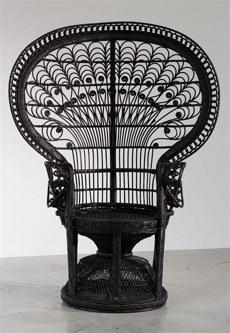 chaise emmanuelle black peacock chair or emmanuelle chair 1970 furniture