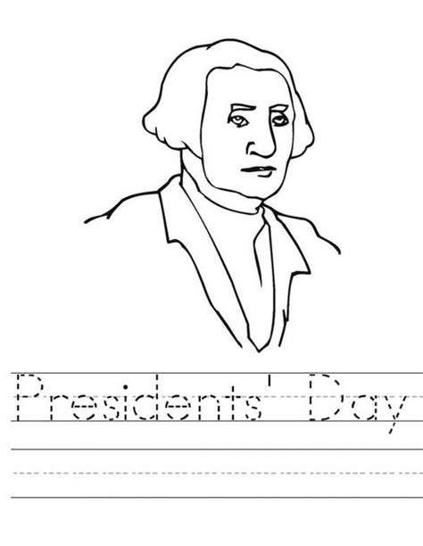 Presidents Coloring Pages by Free Printable Presidents Day Coloring Pages
