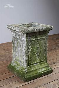 Salvaged, Composition, Stone, Plinth, Planter