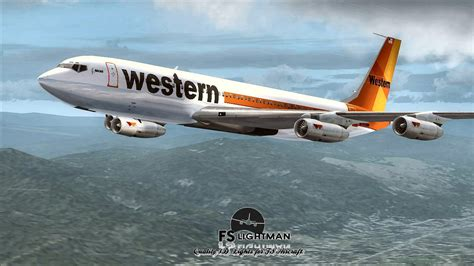 western airlines boeing   special  fsx
