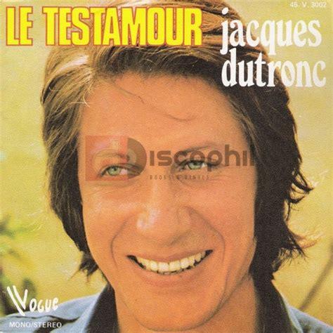 jacques dutronc testamour dutronc jacques discophil books vinyls la boutique