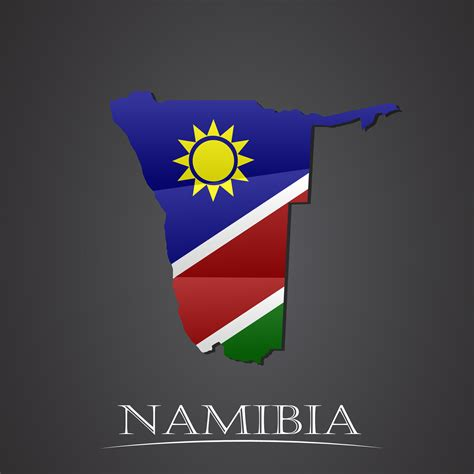 credit guarantee  map  namibia vector