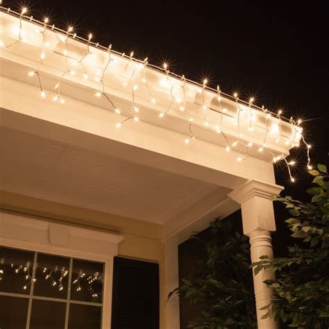 150 commercial icicle lights clear white wire yard envy