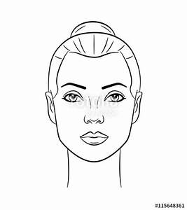 """beautiful woman face line drawing"" Stock image and ..."
