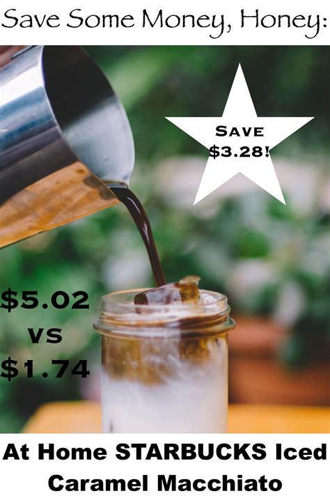 Starbucks® caramel naturally flavored coffee. Save Some Money, Honey: Starbucks' Iced Caramel Macchiato | Blended coffee drinks, Coffee bean ...