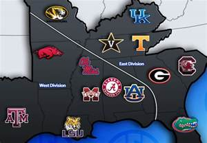SEC Football Teams East and West