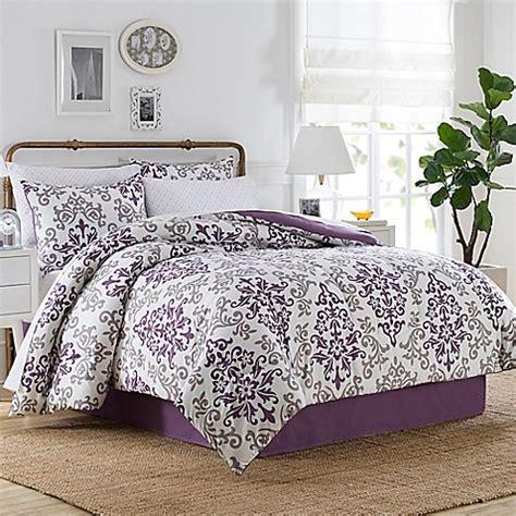 Carina 6 8 Piece Comforter Set in Purple   Bed Bath & Beyond