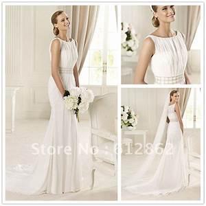 elegant chiffon sleeveless casual beach wedding dresses With casual elegant wedding dresses