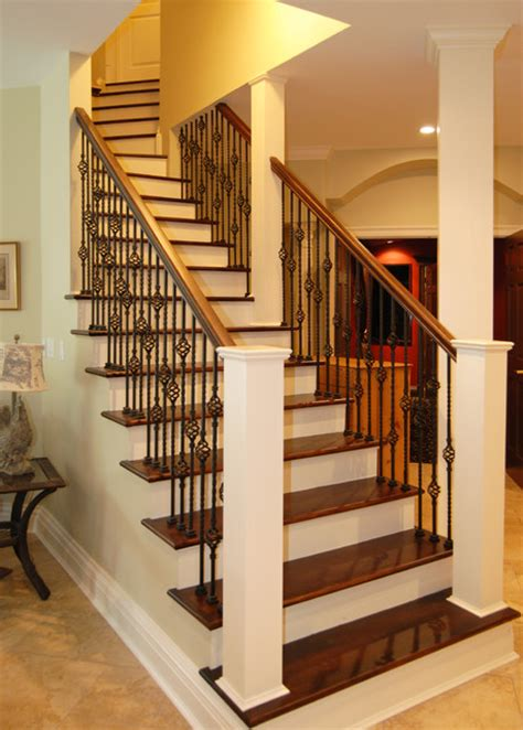 staircase traditional basement york by home design center