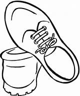 Coloring Shoe Running Shoes Clipart sketch template