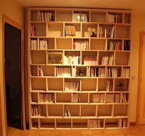 Bibliothèque En Bois Massif : etagere bois bibliotheque ~ Teatrodelosmanantiales.com Idées de Décoration