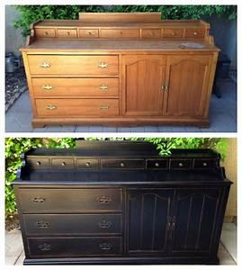 avant apres 58 renovations d39anciens meubles pour un With meuble repeint avant apres