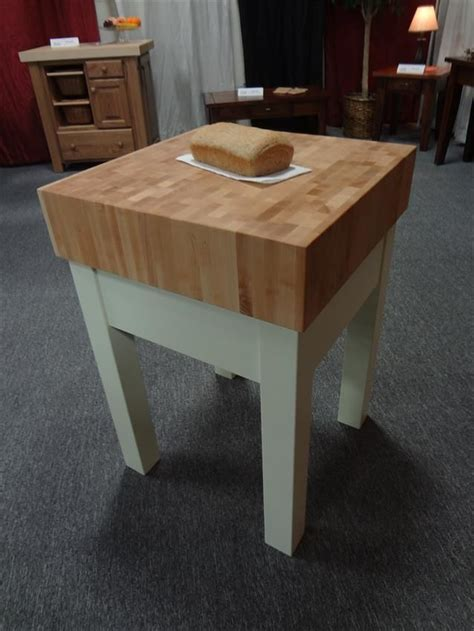 "Amish 6"" Hard Maple End Grain Butcher Block Kitchen Island"
