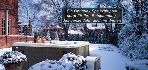 Whirlpool Garten Winter by Optirelax Premium Whirlpools Pools Sauna