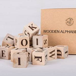 best wooden alphabet blocks products on wanelo With handmade wooden letter blocks