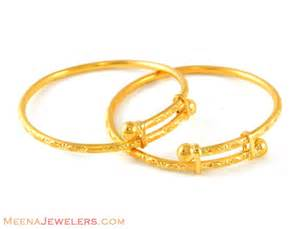gold earrings for babies 22k baby bangles bjba4839 22k gold indian baby bangles