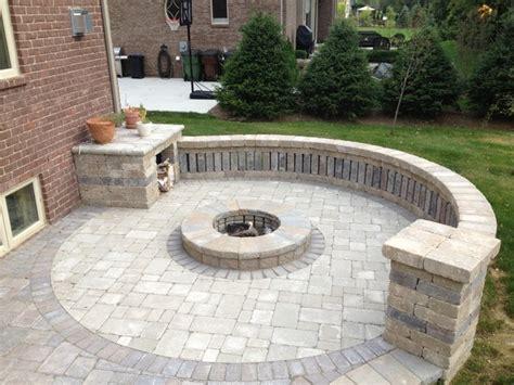 circular brick pit