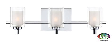 Modern Bathroom Lighting Fixtures Chrome by Quoizel Klt8603cled Kolt Contemporary Polished Chrome Led