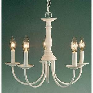 Volume Lighting 5-light White Chandelier  White