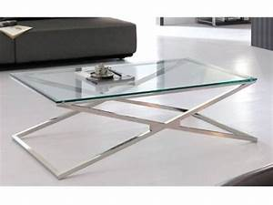 Table Pied Croisé : table basse contemporain pieds crois s so skin ~ Teatrodelosmanantiales.com Idées de Décoration