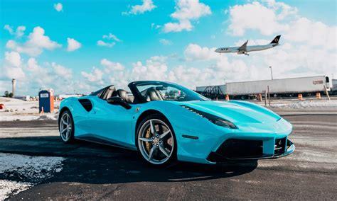 Want to rent a ferrari in atlanta? 2018 Ferrari 488 Spider - Tiffany Blue | MVP Miami Exotic Rentals
