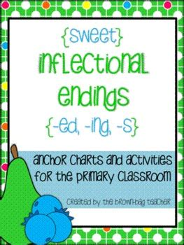 inflected endings ed ing  centers printables tpt