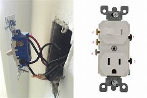 Replace A Wall Light Switch With A Switch  Outlet Combo