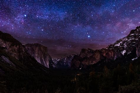Milky Way Over Tunnel View Wallpaper Background Image