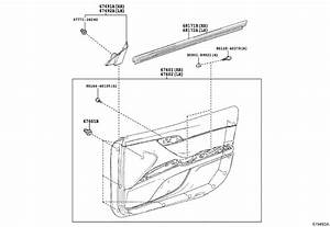 2018 Toyota Camry Window Regulator Guide  Right  Front