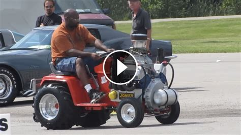 awesome machine ford  cleveland  powered cub cadet