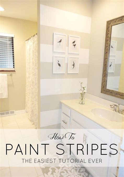 Painting Ideas For Bathroom Walls by Diy How To Paint Stripes On A Wall A 200 Bathroom