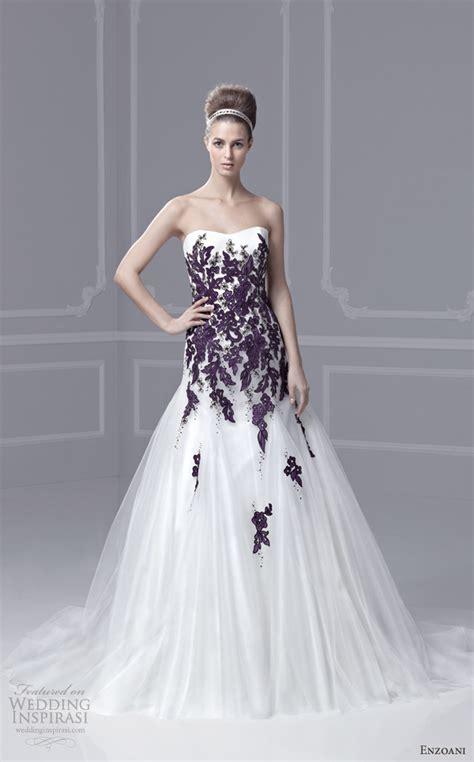 blue and purple wedding dress enzoani timeless wedding dresses 2013 sponsor