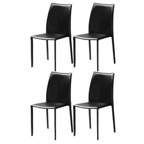 chaise cuir noir chaises en cuir recyclé noir absolument design