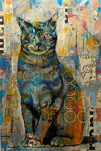Yes Cat mixed media by Judy Paul   ZWIERZAKI   Pinterest ...