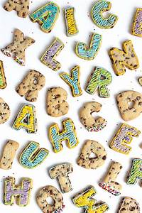 chocolate chip roll out letter cookies With cookie letters game