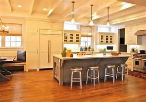 ilot central cuisine avec table integree deco maison moderne With idee deco cuisine avec cuisine intégrée moderne