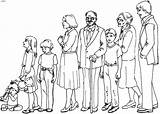 Coloring Pages Members Coloriage Drawing Crowd Imprimer Descendants Sketch Print Famille Template Families Pony Dessins Une Printable Colorings sketch template