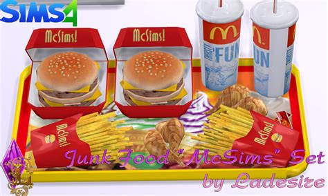 cuisine mod鑞e ladesire 39 s creative corner ts4 quot mcsims junk food quot by ladesire