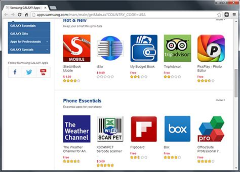 Samsung Mobile Apps Store by Samsung Rolls Out Galaxy Apps Store Taking On