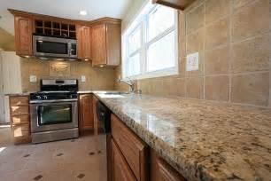 Honey Oak Cabinets with Granite Countertops
