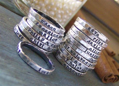 Personalized Stackable Stacking Ringshand Stamped Sterling. Kate Windsor Wedding Engagement Rings. Non Standard Wedding Rings. Teardrop Engagement Engagement Rings. Deep Set Engagement Rings. Mechanical Wedding Rings. 18ct Diamond Engagement Rings. Earthy Wedding Rings. Branch Engagement Rings