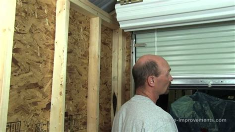 How To Build Metal Shed by How To Build A Shed Part 5 Installing A Metal Roll Up