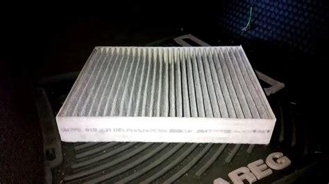 diy 2011 2018 vw touareg t3 cabin air filter replacement