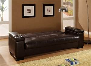 Dreamfurniturecom 300143 faux leather convertible sofa for Convertible sectional storage sleeper sofa