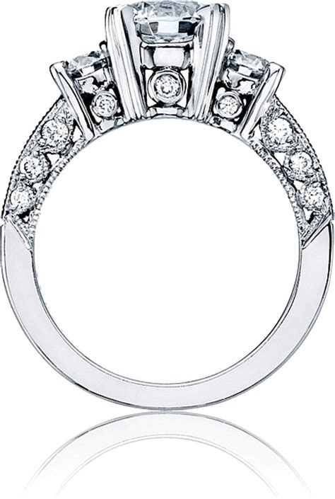 tacori engagement ring with channel diamonds ht2326
